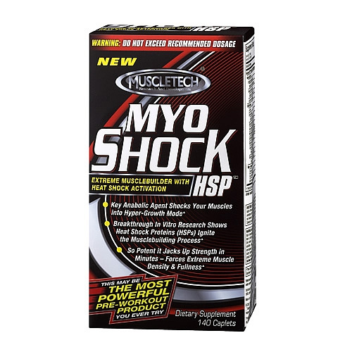 MuscleTech Nutrition Myoshock Pre Workout Supplements 140 Caps