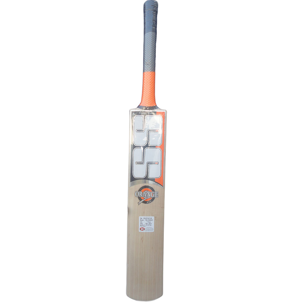 SS Cricket Bat English Ton Orange