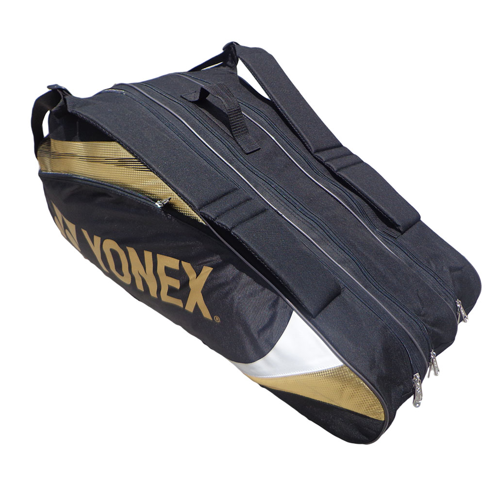 Yonex  SUNR 7329TG BT9 Black and Golden Badminton Kit Bag
