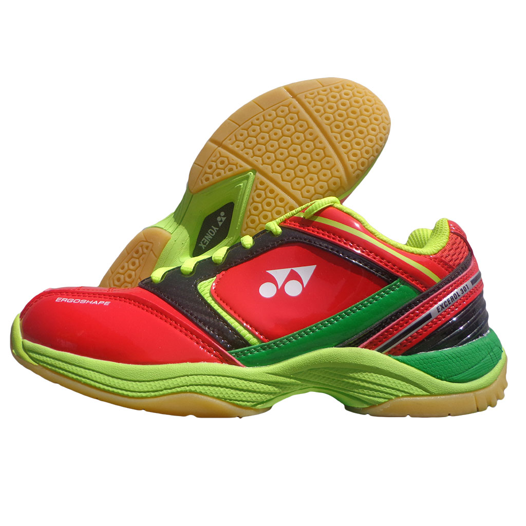 Yonex Excerol 301 Red and Green Badminton Shoes