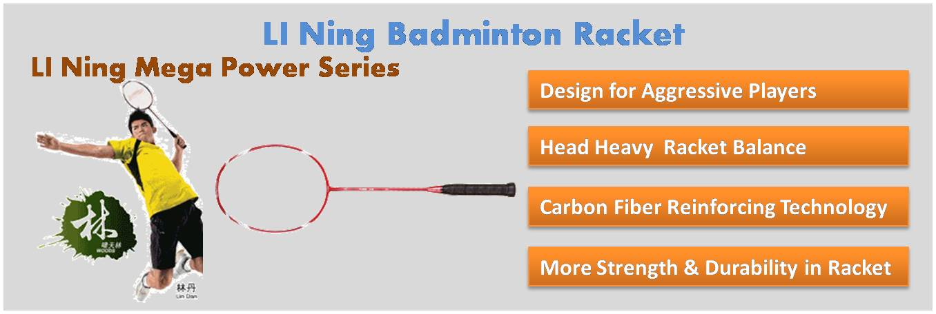 LI Ning Mega Power Series Badminton Rackets