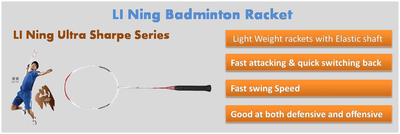 LI Ning Ultra Sharpe Series Badminton Rackets