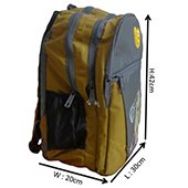 ADDEE Yellow and Grey Casual Backpack