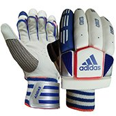 Adidas Vector V1 Cricket Batting Gloves White Blue and Red