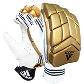 Adidas Incurza 4.0 Cricket Batting Gloves White and Gold