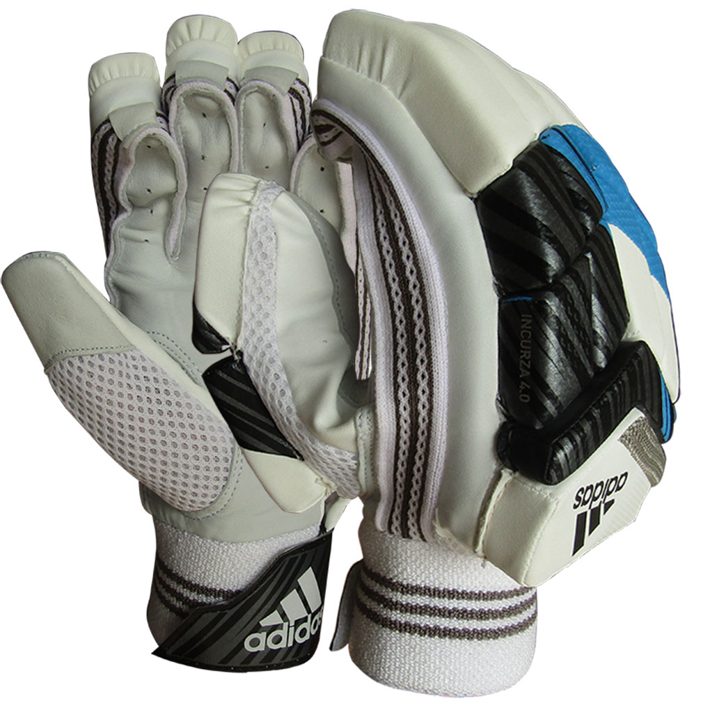 Adidas Incurza 4.0 Cricket Batting Gloves Blue and White