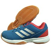 Adidas Gumption Indoor Badminton Shoes Blue White and Red