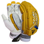 Adidas Incurza 1.0   Cricket Batting Gloves Yellow Blue
