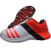 Adidas ADIPOWER Vector Full Spike Cricket Shoes Red and Black