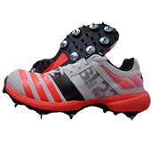 Adidas SL 22 FS II Full Spike Cricket Shoes White and Red