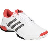 Adidas Barricade Team 4 White Tennis Shoes
