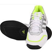 Adidas Brighton White and Lime Tennis Shoes