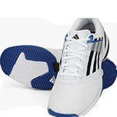 Adidas Sonic Rally White Tennis Shoes