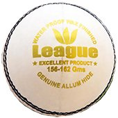 Aj League Cricket Ball White Set of 12 Ball