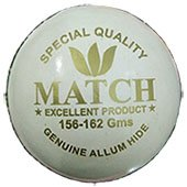 Aj Match White Cricket Ball Set of 3 Ball