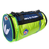 AJ Dare To Dream Duffle Gym Kit Bag Lime and Blue