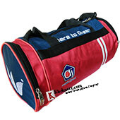 AJ Dare To Dream Duffle Gym Kit Bag Red and Blue