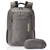 American Tourister Citi Pro Nylon Grey Laptop Backpack