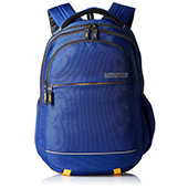 American Tourister Synthetic Blue Laptop Backpack