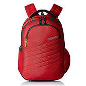 American Tourister Synthetic Red Laptop Backpack