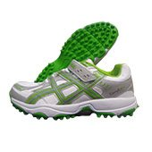 PRO ASE stud Cricket Shoes White and Green