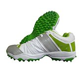 PRO ASE V1 stud Cricket Shoes Green and White
