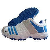 PRO ASE V1 stud Cricket Shoes White and Blue