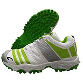 PRO ASE CG 003 stud Cricket Shoes White and Green