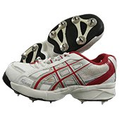PRO ASE FS 101 Full Spike Cricket Shoes White and Red