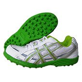 PRO ASE CG 004 stud Cricket Shoes White and Green
