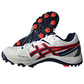 Asics Gel Gully 5 Full Spike Cricket Shoes White and Blue Expanse