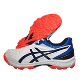 Asics Gel Peake 5 Cricket Shoes White Blue Expanse