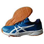 ASICS Up Court 3 Badminton Shoes Race Blue and White