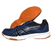 ASICS UpCourt 3 Badminton Shoes Indigo Blue Black
