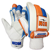 BDM Armstrong Batting Gloves White Blue Orange