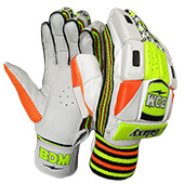 BDM Galaxy Batting Gloves White Orange Lime