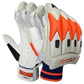 BDM Commander Batting Gloves White Orange