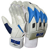 BDM Commander Batting Gloves White Blue
