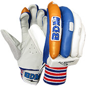 BDM Master Blaster Batting Gloves Blue Orange