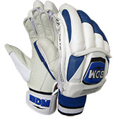 BDM Dynamic Super Batting Gloves White and Blue
