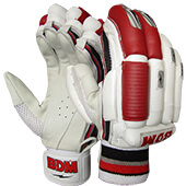 BDM Sachin Special Batting Gloves White and Red