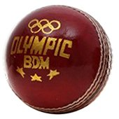 BDM Olympic Leather Cricket Ball 6 Ball Set