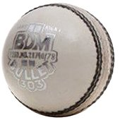 BDM Bullet Leather Cricket Ball 24 Ball Set White