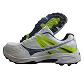 Balls T20 Cricket Shoes White Blue Lime