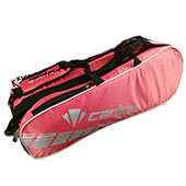 Carlton CP 1007 Badminton Kit Bag Red and Silver