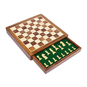 Chessncraft Flat Drawer Magnetic Chess Board 12 Inch