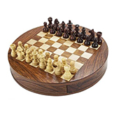 Chessncraft Round Magnetic Chess Board 09 Inch