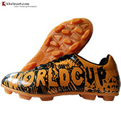 Cosco World Cup Football Shoes Orange and Black