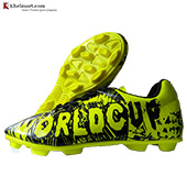 Cosco World Cup Football Shoes Black and Lime