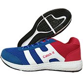 Catch It Running Shoes White Blue and Red